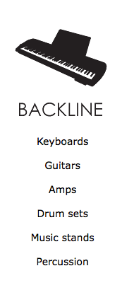 Keyboard, guitar, amp, drums, music stand, percussion