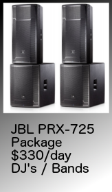 JBL, PRX725, pa, hire, package, adelaide