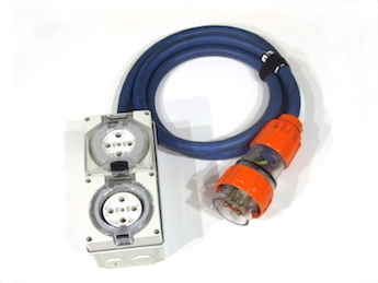 32A 3phase double adaptor hire adelaide