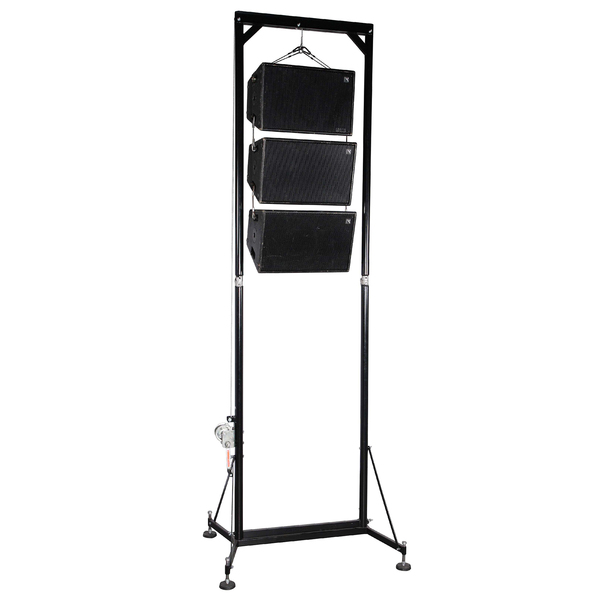 winch-up stand, speaker riser, hire, adelaide, VMB tower lift